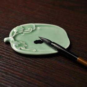 长物居 青釉瓜果陶瓷笔具笔掭笔觇 景德镇手工瓷器文房四宝用品