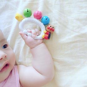 【日本玩具】面包超人玩具日本原装进口宝宝手摇铃婴儿玩具6-12个月益智手摇铃
