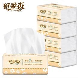 【卫生纸】*舒柔爽厚韧餐巾抽纸巾330张原木纸抽餐巾卫生软抽家用卫生纸