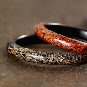 不洱·手作大漆犀皮手镯 |天然生漆制作,千年不朽可传家