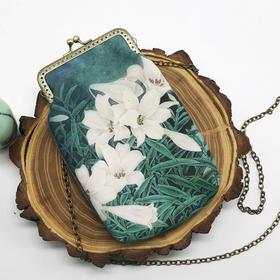 古风斜挎包手绘帆布小背包 中国风零钱包手机包金口包 复古创意
