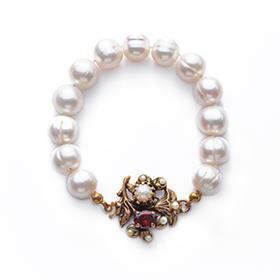 古典优雅螺纹珍珠手链