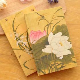 古风丝绸面笔记本文具 中国风日记事本子手帐本办公 复古创意学生