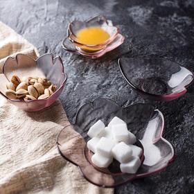 日式磨砂透明玻璃甜品碗小食碟点心碗酱料碟 樱花爱�