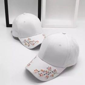 超时尚梅花刺绣款遮阳棒球帽