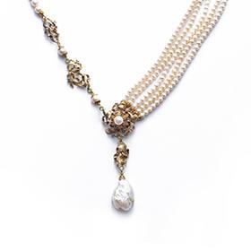 单双边珍珠项链
