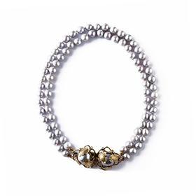 巴洛克黑珍珠双盘项链