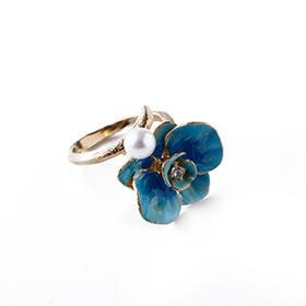 兰花珍珠戒指