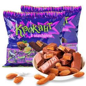 俄罗斯进口KDV巧克力味夹心紫皮糖500g袋零食喜糖果kpokaht