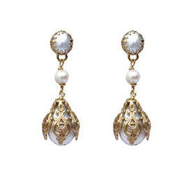 古典巴洛克珍珠中款耳坠