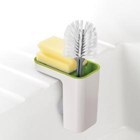 新品英国Joseph厨房清洁储物收纳盒吸盘沥水百洁布锅刷架置物盒