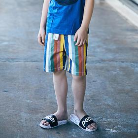彩色条纹短裤