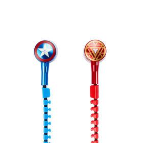 Disney/迪士尼 漫威美国队长3线控入耳式运动耳塞式带麦拉链耳机