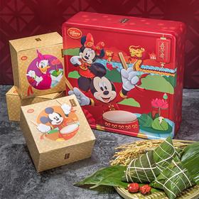 五芳斋 欢聚五芳 迪士尼礼品粽 8粽子多口味蛋黄鲜肉排骨粽粽子礼盒