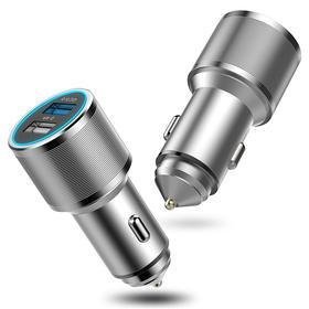 QC3.0智能快充  全铝合金车载充电器