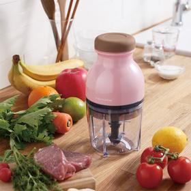 日本recolte丽克特家用小型厨房手压式食物料理处理机儿童辅食机