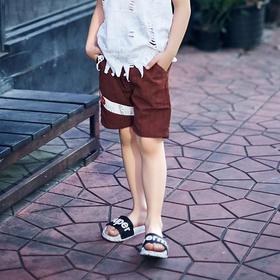 胶印绳带短裤