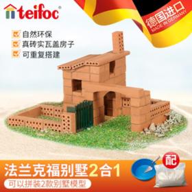 德国进口teifoc建筑手工DIY小屋 别墅2合1/中国风建筑STEAM教育套装