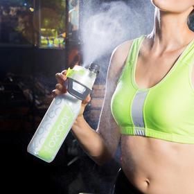 全新升级美国O2COOL保冷喷雾运动水壶健身户外防摔防漏塑料水杯