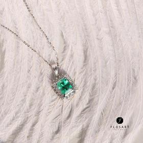 PT900戴妃款方形祖母绿套链