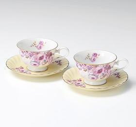 【桂由美・玫瑰幻想】美浓烧 咖啡杯套装