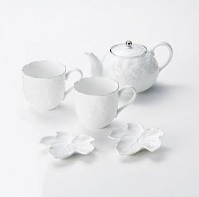 【桂由美・葡萄】浮雕美浓烧茶具5件套