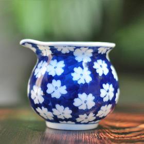 长物居 手绘青花冰梅纹公道杯 景德镇纯手工仿古瓷器茶具茶杯