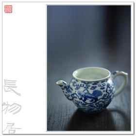 长物居 景德镇手绘青花狮子绣球纹瓷器公道杯公杯 江西瓷业公司款