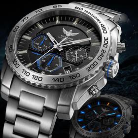 野狼军表光能太阳能手表V1210