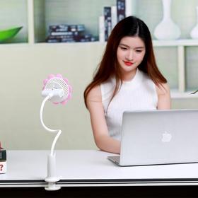 太阳花夹子风扇 USB充电迷你风扇 创意便携宿舍婴儿推车夹子风扇