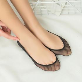 【5双装】夏季超薄冰丝船袜 棉浅口隐形袜硅胶防滑短袜