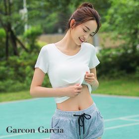 【夏日必备】自带Bra的T恤,冰感兰精莫代尔面料,超薄胸垫,极速吸湿,穿上凉5度!