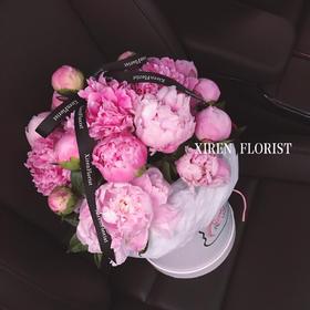 粉色芍药花桶