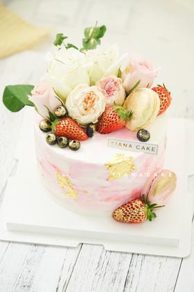 鲜花蛋糕 高端ins风