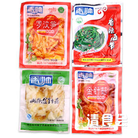 【清真】 香帅小榨菜  海带 金针菇 罗汉笋 土豆片 混合随机发货  一斤装(约20小袋)