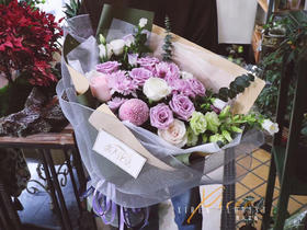 紫色系混搭花束