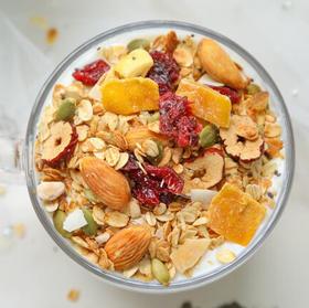 下单48小时发货 低温烘焙果仁燕麦片 即食坚果仁水果燕麦片 营养早餐 350g一罐
