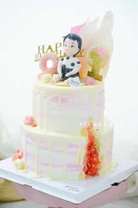 翻糖定制蛋糕 满岁 周岁