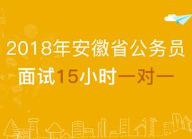 【2018年公考面试】 安徽省结构化面试15小时1对1