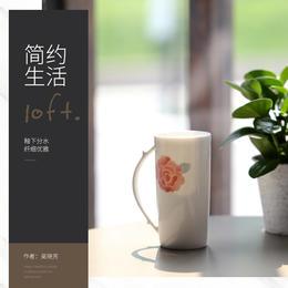 陶溪川景德镇釉下彩情侣简约马克杯手绘陶瓷水杯办公茶杯咖啡杯