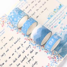 蔚蓝深海套装胶带8个装 文具