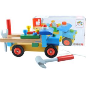 【法国玩具】法国Janod工具拆装玩具车儿童手工组装车早教益智木制玩具