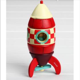 【法国玩具】法国Janod拆装模型—飞机火箭直升机儿童木制磁性玩具动手益智5