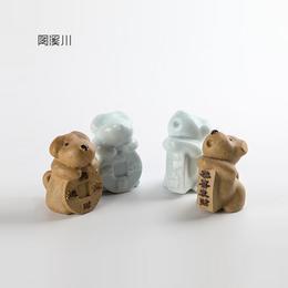陶溪川景德镇创意陶瓷小狗可爱摆件家居工艺摆设装饰礼品