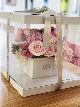 蛋糕造型礼盒花