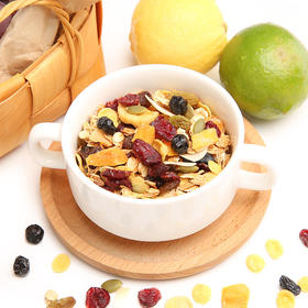 【每天三分钟吃一顿营养早餐】格兰诺拉 烘焙麦片 即食枫糖水果坚果燕麦片 营养美味 350g/罐