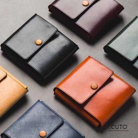 CUTO新款LOFT男女一张皮折叠手工定制钱包