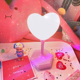 创意时尚可爱台灯爱心少女LED装饰灯小清新小夜灯礼物拍照道具灯
