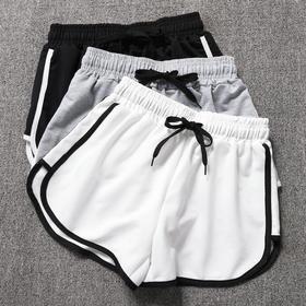 瑜伽纯棉运动短裤女大码高腰薄款热裤宽松休闲睡裤