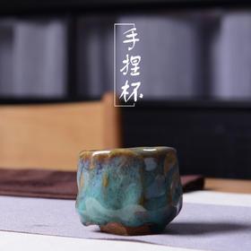 陶溪川景德镇创意陶瓷纯手工捏杯陶瓷杯颜色釉品茗杯主人杯